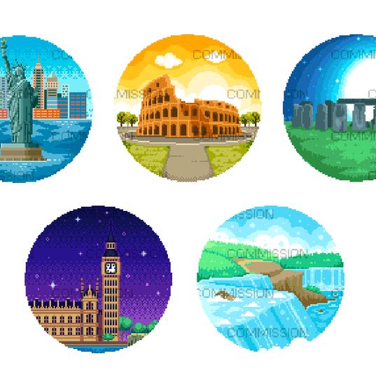 Around the World - Cross Stich Patterns