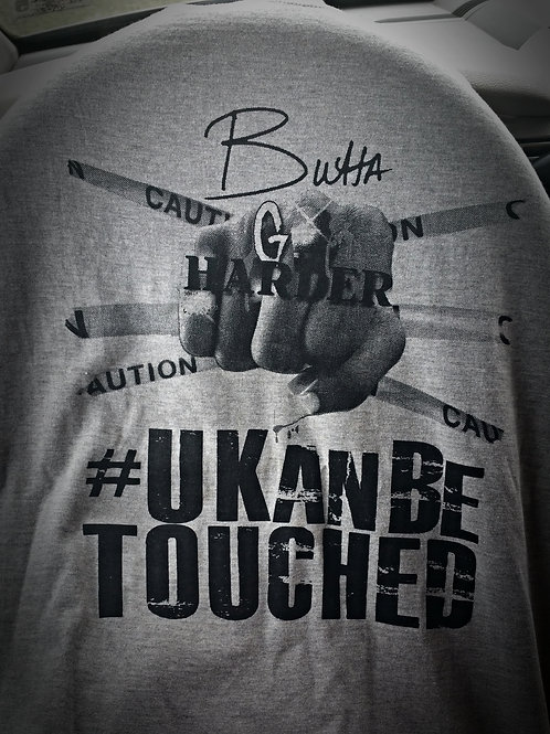 U KAN BE TOUCHED T-SHIRTS (MEN) GRAY & BLACK