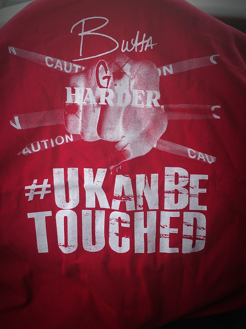 U KAN BE TOUCHED T-SHIRTS (MEN) RED & WHITE