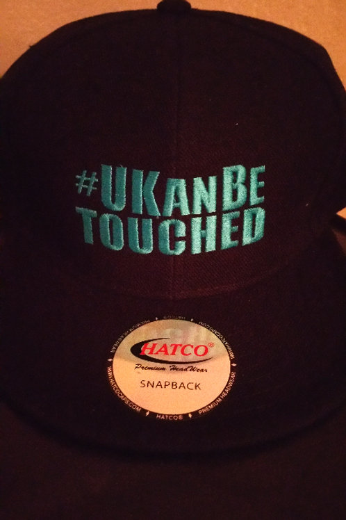 U KAN BE TOUCHED Snapbacks (Black and Turquoise)