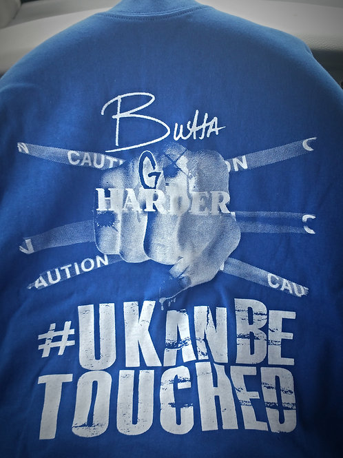 U KAN BE TOUCHED T-SHIRTS (MEN) BLUE & WHITE