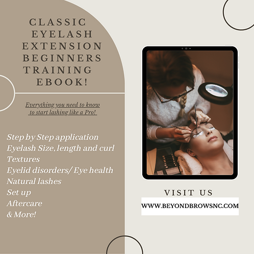 Classic Eyelash Extension Beginners Training Ebook
