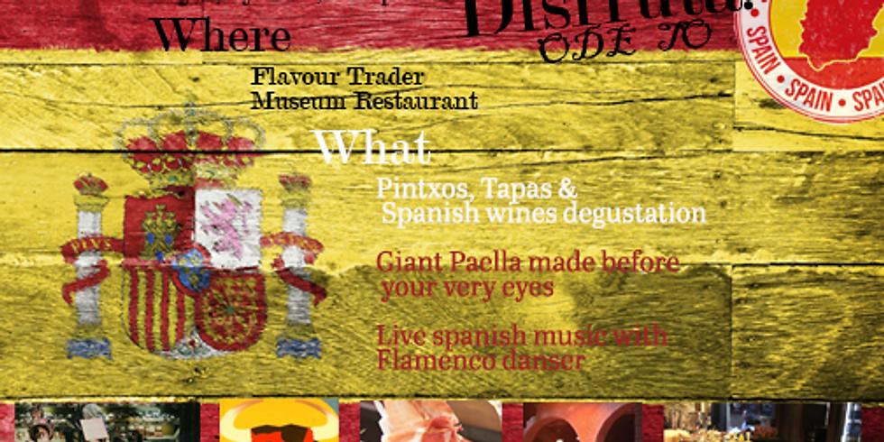 DISFRUTA! Ode to Spain: Tapas, Pintxos, Paella & Flamenco