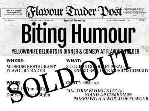 SOLD OUT : Waiting list FOR A NEXT Biting Humour