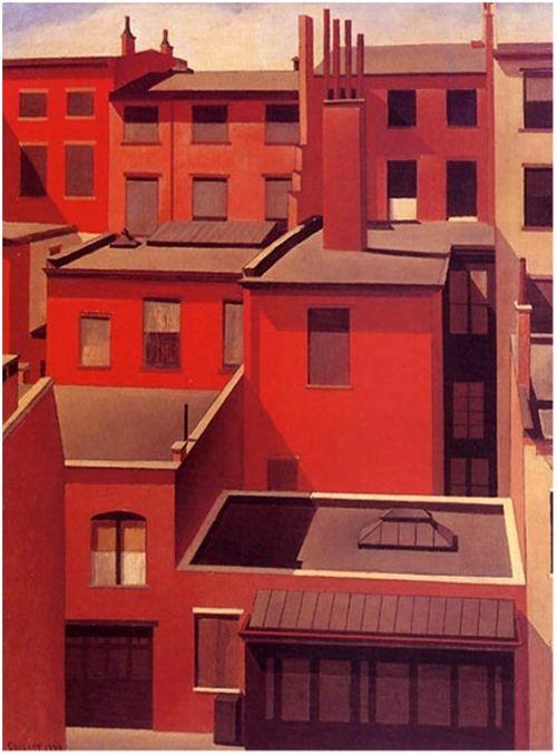 MacDougal Alley, 1924, oil on canvas, Charles Sheeler (https://i.pinimg.com/564x/72/07/ae/7207ae31db38b06305782865de4e3cfa.jpg)