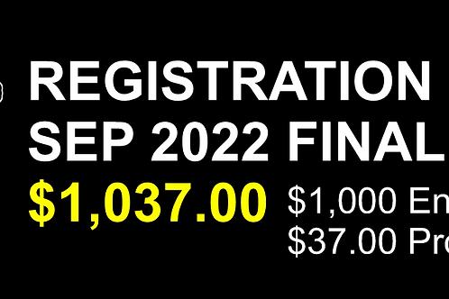 MEGA BUCs Registration FINAL PAYMENT