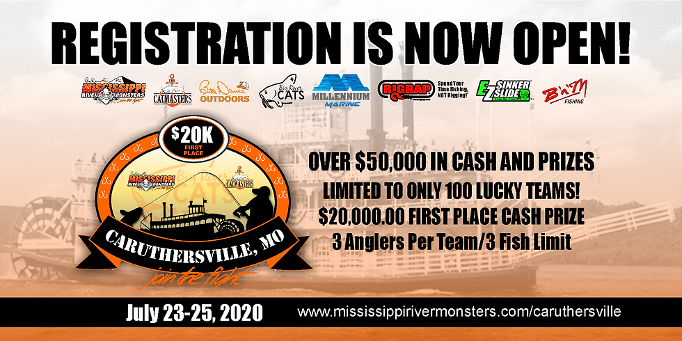 Mississippi River Monsters & The Catmasters Caruthersville $50K Event!