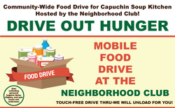 Community-Wide Food Drive for Capuchin Soup Kitchen Hosted by the Neighborhood Club!