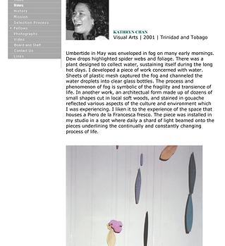 2001 Civitella Ranieri Visual Arts Resid