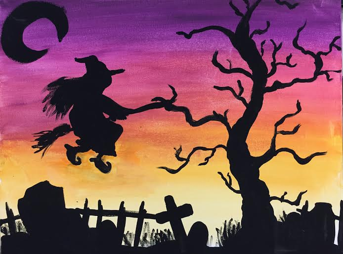 Witch in Sky
