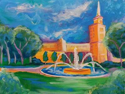 Plaza-Fountains