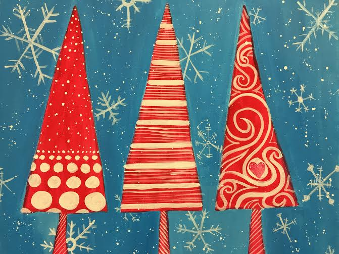 3X Christmas Trees