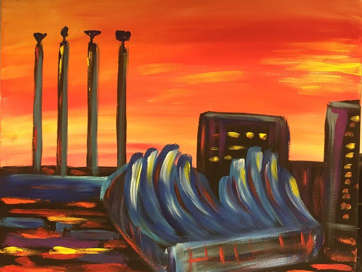 KC Skyline at Sunset