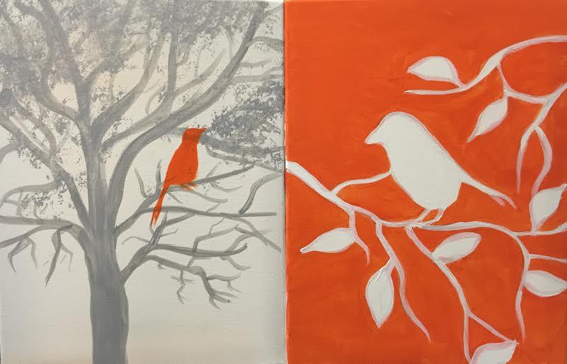 Bird Silouette- Couples