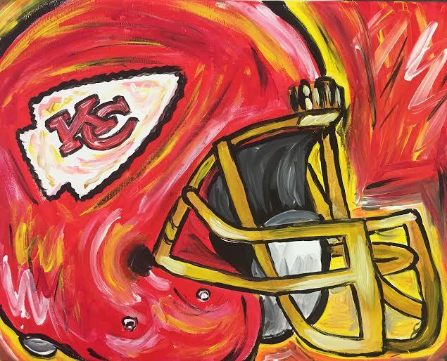Go Chiefs- Helmet