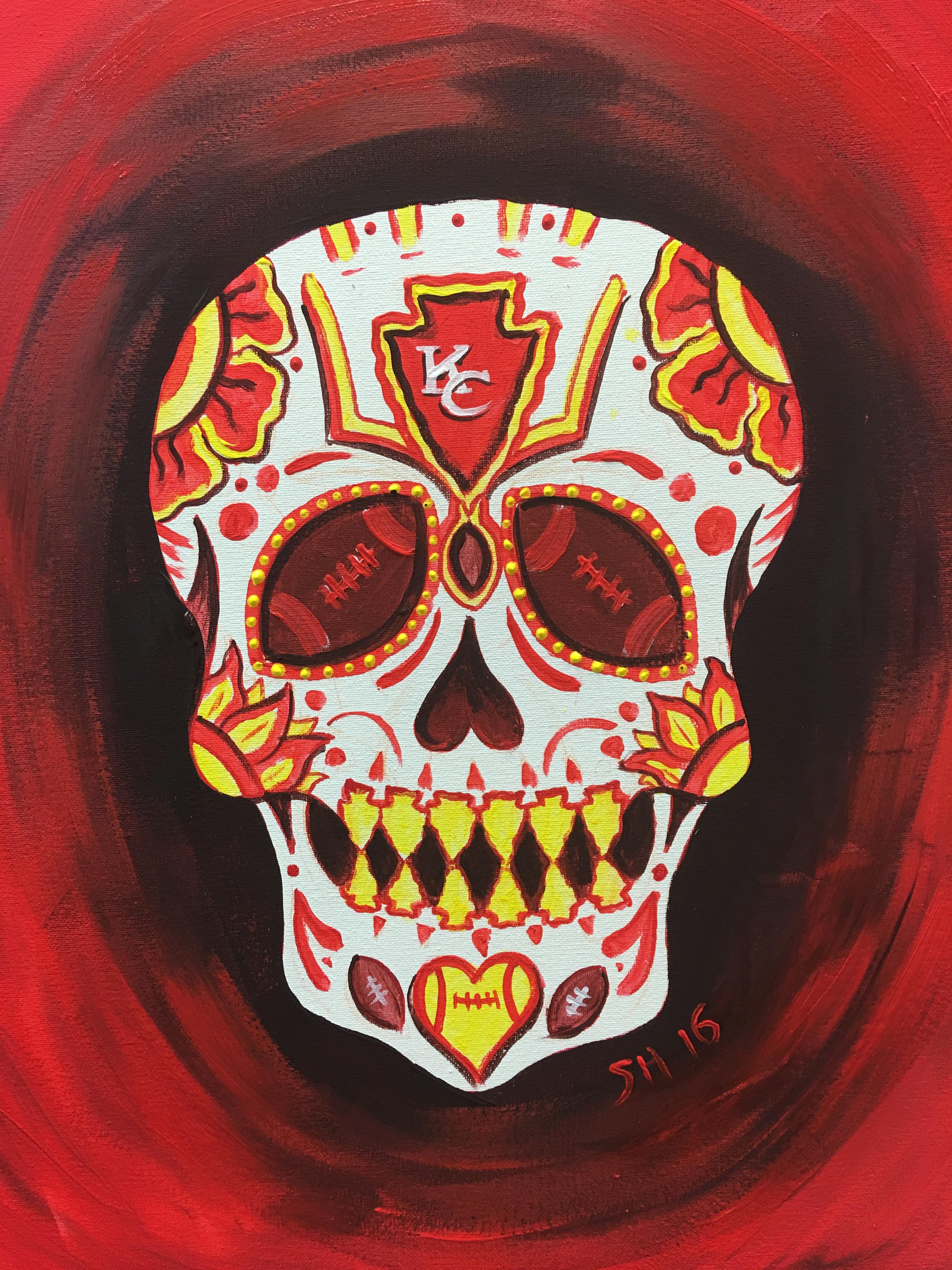KC Chiefs - Sugar Skull