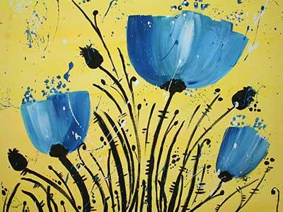 Blue-Poppies