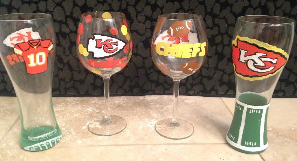 Wine Glasses Chiefs 2