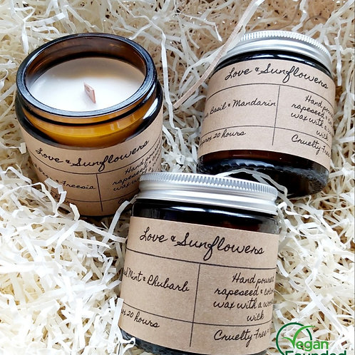 10 Wooden Wick Candle
