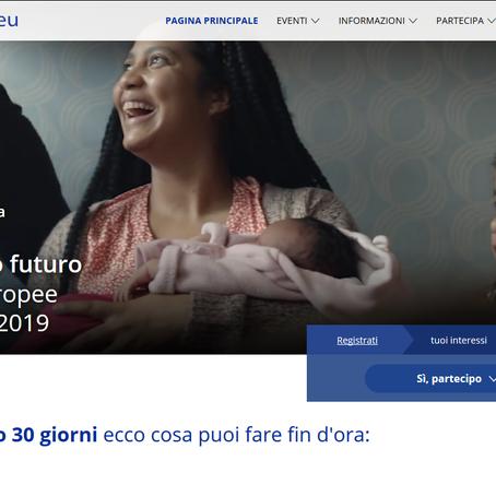 """""""Scegli il tuo futuro"""". L'invito al voto del Parlamento Europeo"""