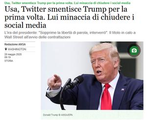 Twitter smentisce Trump, comunicazione politica ed elettorale sui social