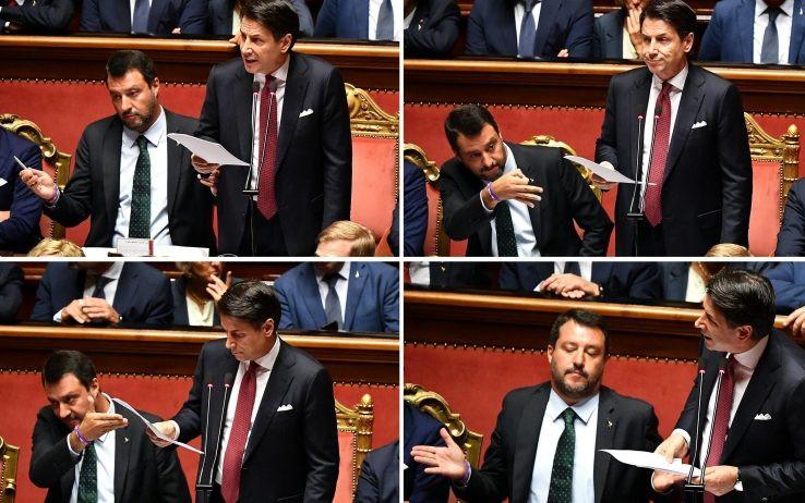 Conte, Salvini, crisi di governo, governo, senato, senato della repubblica, politica