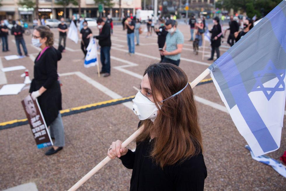 Manifestazione, distanziamento sociale, Netanyahu, Gantz, Israele, coronavirus, covid, covid-19, covid19