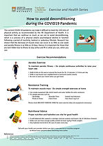 Avoid Deconditioning During the COVID19.