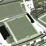 Vogelperspektive Stadion