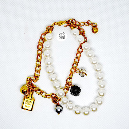 Collar para perrita - perlas Tiffany