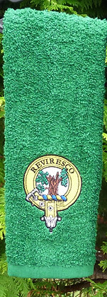 Clan Crest Golf Towel