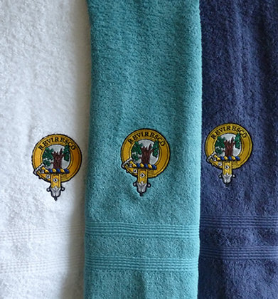 Clan Crest Hand Towel Set of 3