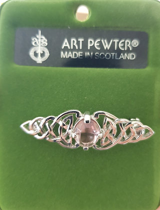 Brooch with a Pink Stone