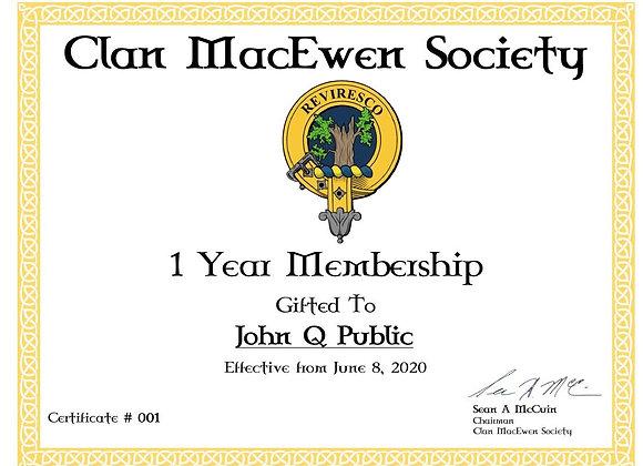 1 Year Gift Society Membership
