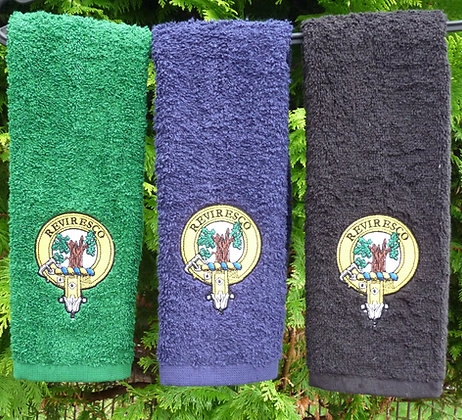Clan Crest Golf Towel Set of 3