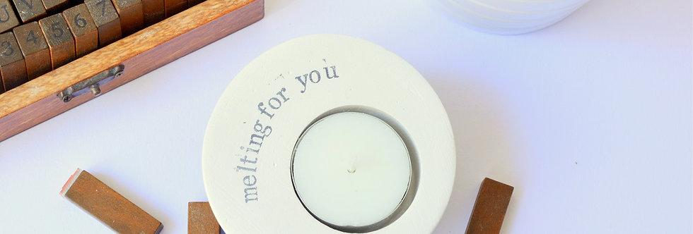 "t-light, candle holder ""melting for you"""