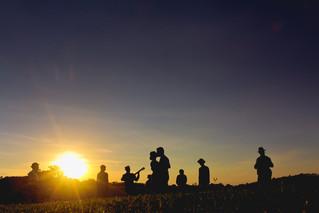 Casando com o pôr-do-sol