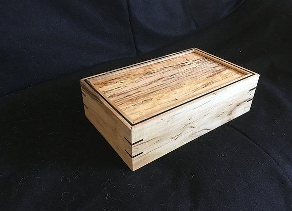 Maple urn w/ spalted sliding lid