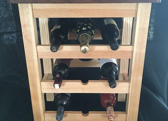 Ash & Walnut Wine Rack/Table