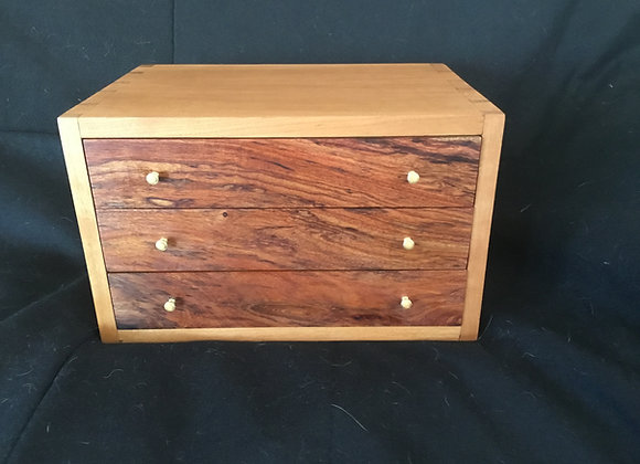 Dovetailed Cherry & Bubinga Jewelry Case