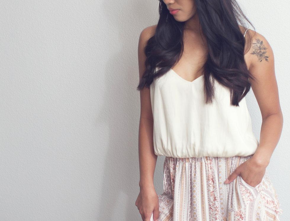 Taupe/Honey Maxi Skirt