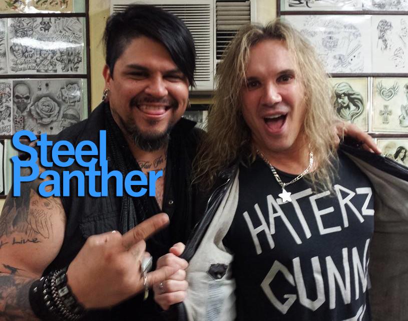 Steel panther, tattoo, Michael Starr