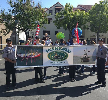 #paloalto May Fete Parade #sssintrepid #seascouts