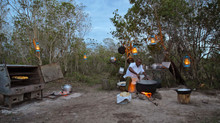 BAKING IN THE BUSH