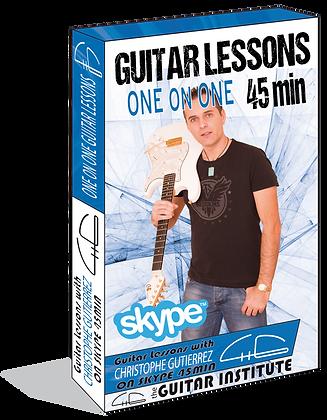 45 min Skype Guitar lesson