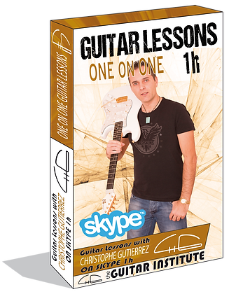 "1 h Skype Guitar lesson ""4 lessons"""
