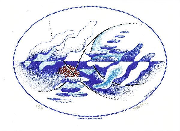 MINO DELLE SITE - LITOGRAFIA - Oblò Aero