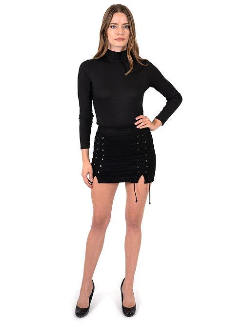Dixie Lace-Up Mini Skirt