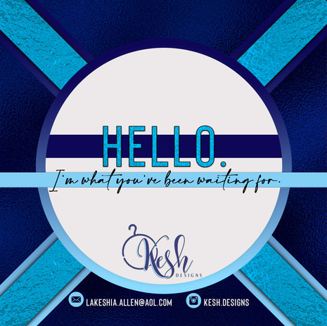 Kesh Designs Thank You Card Front  Side.