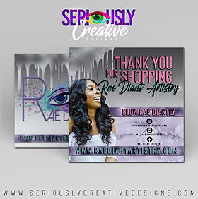 Rae'Diant Artistry Thank You Flyer Marke